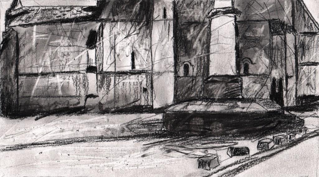 Roman church in Charente maritime